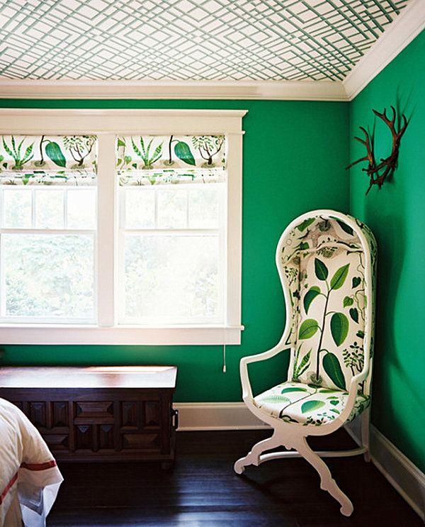 NoiThatNghiDuong-Xanh Mat Nhiet Doi-emerald-green-bedroom-idea-walls