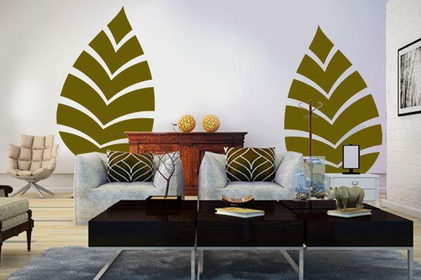 NoiThatNghiDuong-Xanh Mat Nhiet Doi-green-leaf-wall-paint