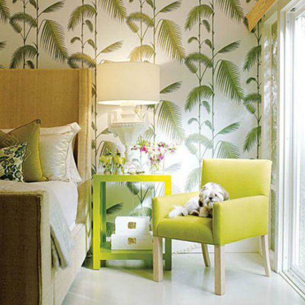 NoiThatNghiDuong-Xanh Mat Nhiet Doi-green-yellow-bedroom-accents